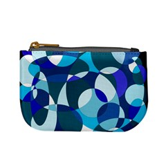 Blue Abstraction Mini Coin Purses by Valentinaart