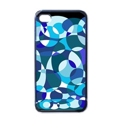 Blue Abstraction Apple Iphone 4 Case (black) by Valentinaart