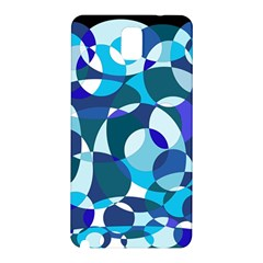Blue Abstraction Samsung Galaxy Note 3 N9005 Hardshell Back Case by Valentinaart