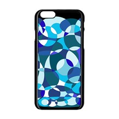 Blue Abstraction Apple Iphone 6/6s Black Enamel Case by Valentinaart