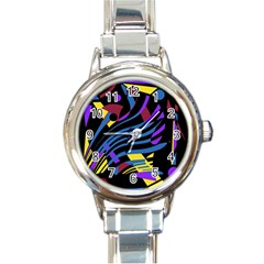 Optimistic Abstraction Round Italian Charm Watch by Valentinaart