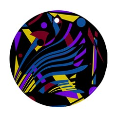 Optimistic Abstraction Ornament (round)  by Valentinaart