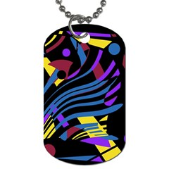 Optimistic Abstraction Dog Tag (two Sides) by Valentinaart