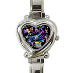 Optimistic abstraction Heart Italian Charm Watch Front
