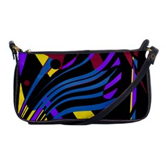 Optimistic Abstraction Shoulder Clutch Bags by Valentinaart