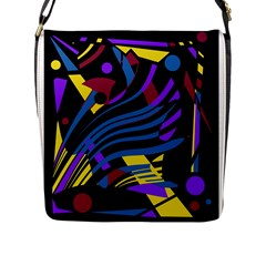 Optimistic Abstraction Flap Messenger Bag (l)  by Valentinaart