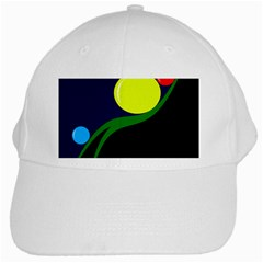 Falling  Ball White Cap