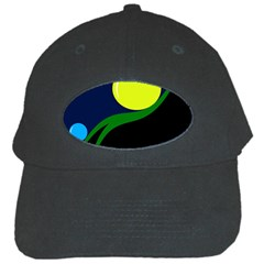 Falling  Ball Black Cap