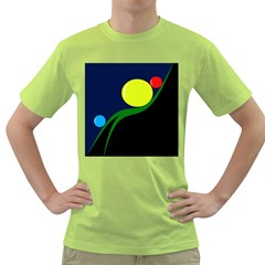Falling  Ball Green T Shirt