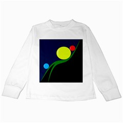 Falling  Ball Kids Long Sleeve T Shirts by Valentinaart