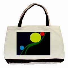 Falling  Ball Basic Tote Bag (two Sides) by Valentinaart
