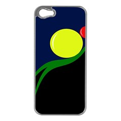 Falling  Ball Apple Iphone 5 Case (silver) by Valentinaart