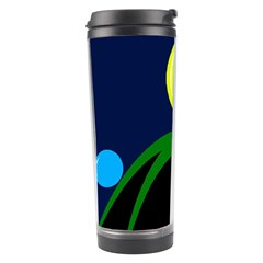 Falling  Ball Travel Tumbler by Valentinaart