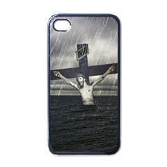 Jesus On The Cross At The Sea Apple Iphone 4 Case (black) by dflcprints