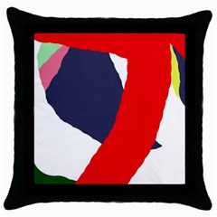 Beautiful Abstraction Throw Pillow Case (black) by Valentinaart