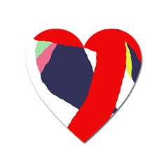 Beautiful Abstraction Heart Magnet by Valentinaart