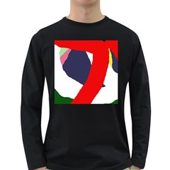 Beautiful Abstraction Long Sleeve Dark T-shirts by Valentinaart