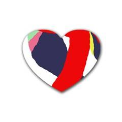 Beautiful Abstraction Rubber Coaster (heart)  by Valentinaart