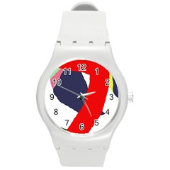 Beautiful Abstraction Round Plastic Sport Watch (m) by Valentinaart