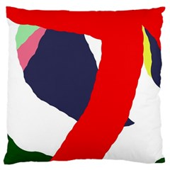 Beautiful Abstraction Large Flano Cushion Case (two Sides) by Valentinaart