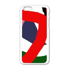 Beautiful Abstraction Apple Iphone 6/6s White Enamel Case by Valentinaart