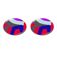 Crazy Abstraction Cufflinks (oval) by Valentinaart