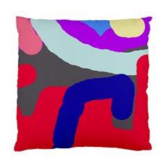 Crazy Abstraction Standard Cushion Case (one Side) by Valentinaart