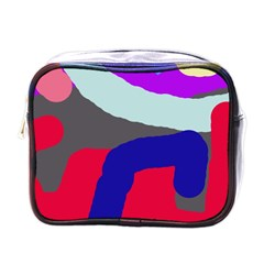 Crazy Abstraction Mini Toiletries Bags by Valentinaart