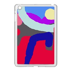 Crazy Abstraction Apple Ipad Mini Case (white) by Valentinaart