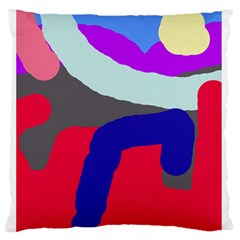 Crazy Abstraction Standard Flano Cushion Case (two Sides) by Valentinaart