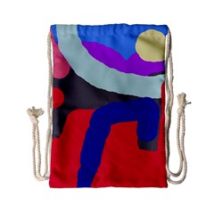 Crazy Abstraction Drawstring Bag (small) by Valentinaart