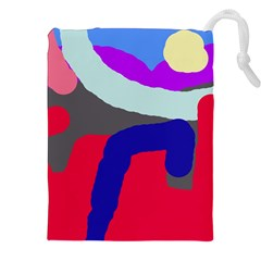 Crazy Abstraction Drawstring Pouches (xxl) by Valentinaart