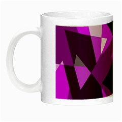Purple Broken Glass Night Luminous Mugs by Valentinaart