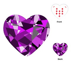 Purple Broken Glass Playing Cards (heart)  by Valentinaart