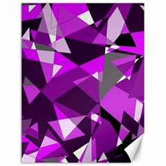 Purple Broken Glass Canvas 18  X 24   by Valentinaart