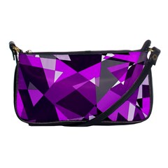 Purple Broken Glass Shoulder Clutch Bags by Valentinaart