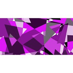 Purple Broken Glass You Are Invited 3d Greeting Card (8x4)