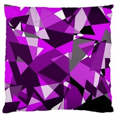 Purple Broken Glass Standard Flano Cushion Case (one Side) by Valentinaart