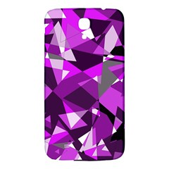 Purple Broken Glass Samsung Galaxy Mega I9200 Hardshell Back Case by Valentinaart