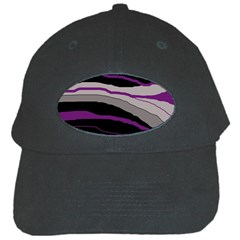 Purple And Gray Decorative Design Black Cap by Valentinaart