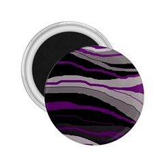 Purple And Gray Decorative Design 2 25  Magnets by Valentinaart