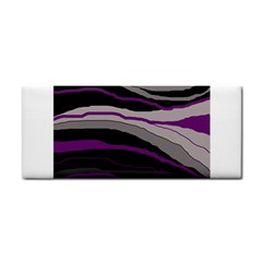 Purple And Gray Decorative Design Hand Towel by Valentinaart