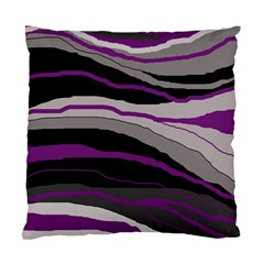 Purple And Gray Decorative Design Standard Cushion Case (one Side) by Valentinaart