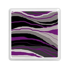 Purple And Gray Decorative Design Memory Card Reader (square)  by Valentinaart