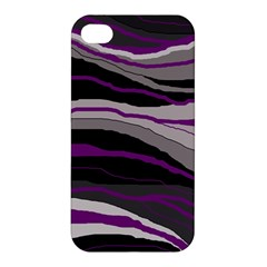 Purple And Gray Decorative Design Apple Iphone 4/4s Hardshell Case by Valentinaart