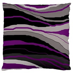 Purple And Gray Decorative Design Large Cushion Case (one Side) by Valentinaart