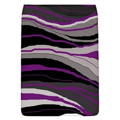 Purple And Gray Decorative Design Flap Covers (l)  by Valentinaart
