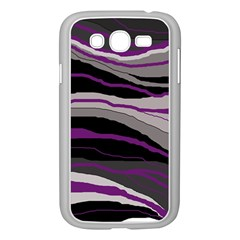 Purple And Gray Decorative Design Samsung Galaxy Grand Duos I9082 Case (white) by Valentinaart