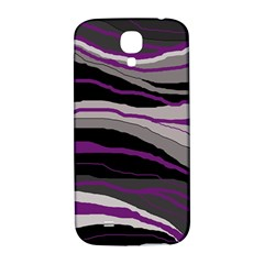 Purple And Gray Decorative Design Samsung Galaxy S4 I9500/i9505  Hardshell Back Case by Valentinaart