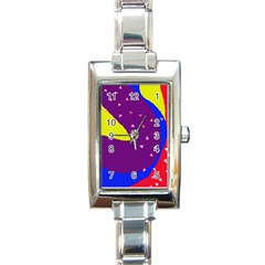 Optimistic Abstraction Rectangle Italian Charm Watch by Valentinaart